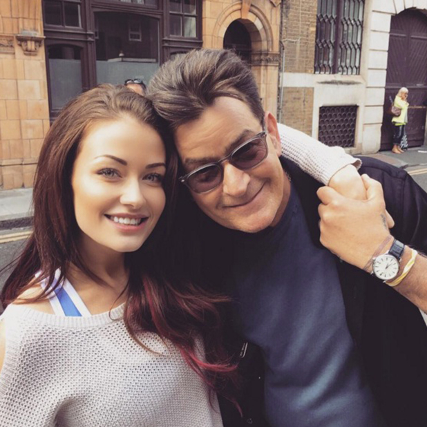 Charlie Sheen and Jess Impiazzi in London, 19 June 2016