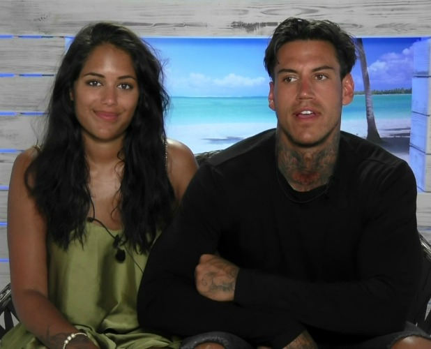 Malin Andersson and Terry Walsh, contestants on ITV reality series 'Love Island'. Broadcast on ITV2 HD.