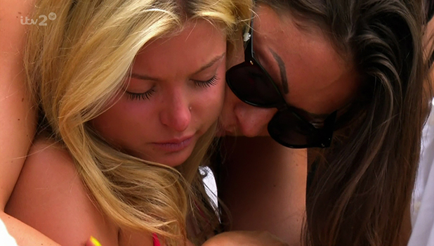 Zara Holland is forced to leave the villa, after finding out her mother is ill in hsopital on 'Love Island'. Broadcast on ITV2HD