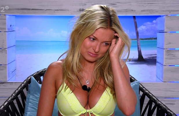 Zara Holland in tears after learning that she had been stripped of her Miss Great Britain title, on ITV reality show 'Love Island'. Broadcast on ITV2 HD.