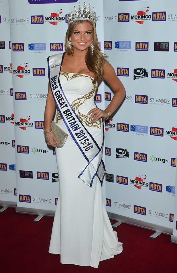 5th annual National Reality TV Awards 2015 at The Porchester Hall in London, England. 30th September 2015 Zara Holland