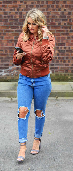 TOWIE's Danielle Armstrong pictured out and about in Manchester, 28th June 2016