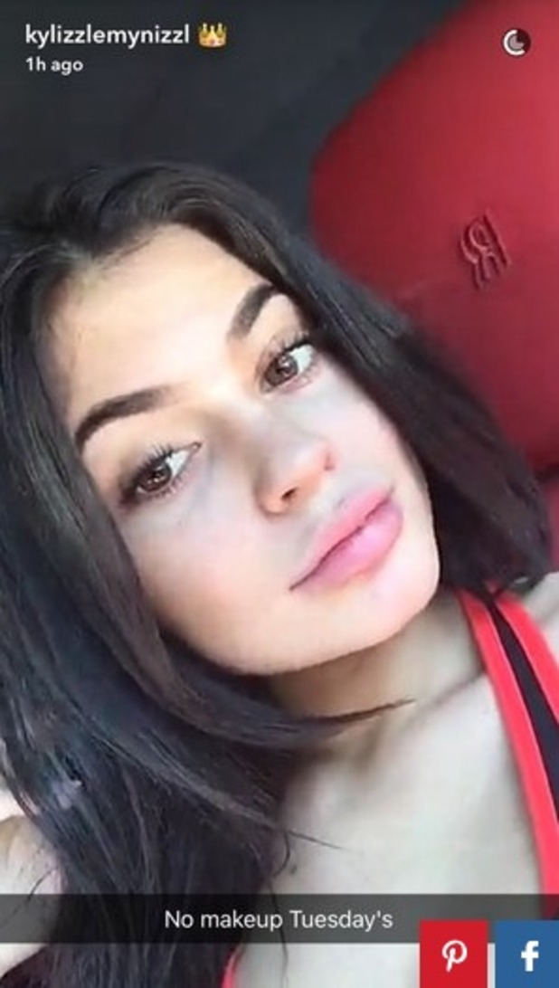 Kylie Jenner, no make-up, 28 June 2016