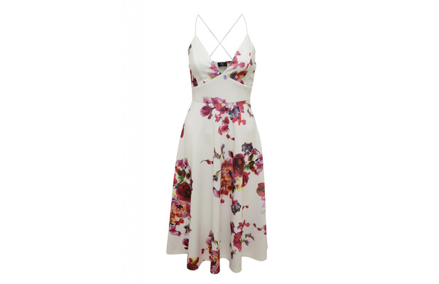 AX Paris Floral Skater dress, £30, 27th June 2016