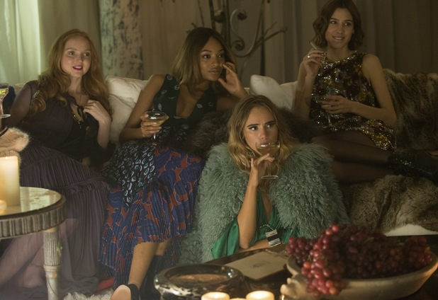 Absolutely Fabulous: The Movie still with Lily Cole, Suki Waterhouse, Jourdan Dunn and Alexa Chung