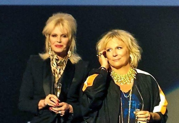 Joanna Lumley and Jennifer Saunders at a screening of Absolutely Fabulous: The Movie