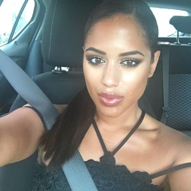 Malin Andersson takes a car selfie - 27 June 2016