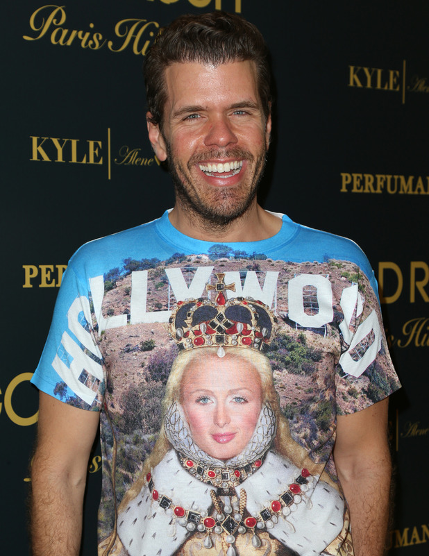 Perez Hilton wears funny T-shirt to Paris Hilton's fragrance launch in Beverly Hills, 30th June 2016