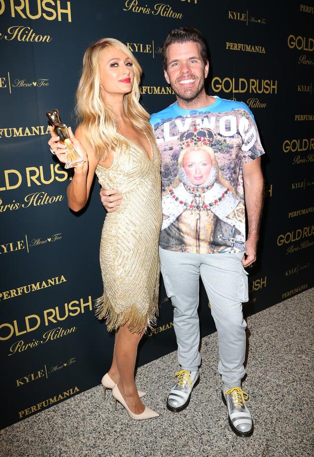 Perez Hilton wears Paris Is Queen T-Shirt to Paris' Gold Rush fragrance launch party, Los Angeles, 30th June 2016