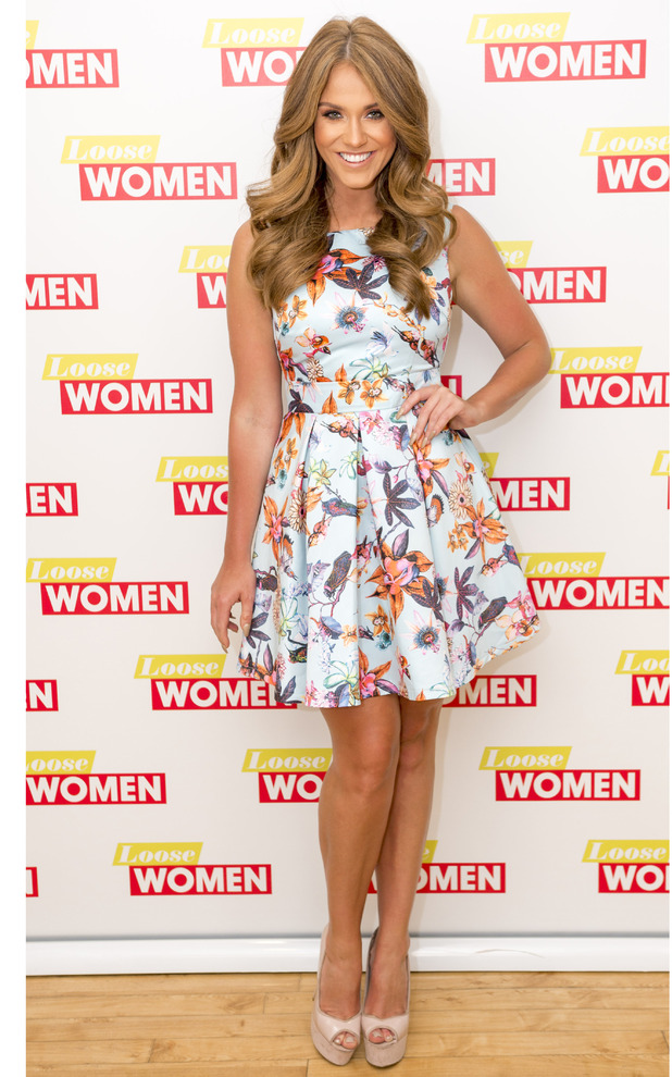 Former Geordie Shore star Vicky Pattison wearing Honeyz dress on Loose Women, 29th June 2016