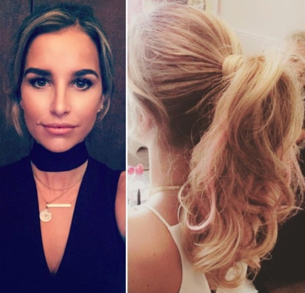 Vogue Williams ponytail by Mikey Kardashian, 5 July 2016