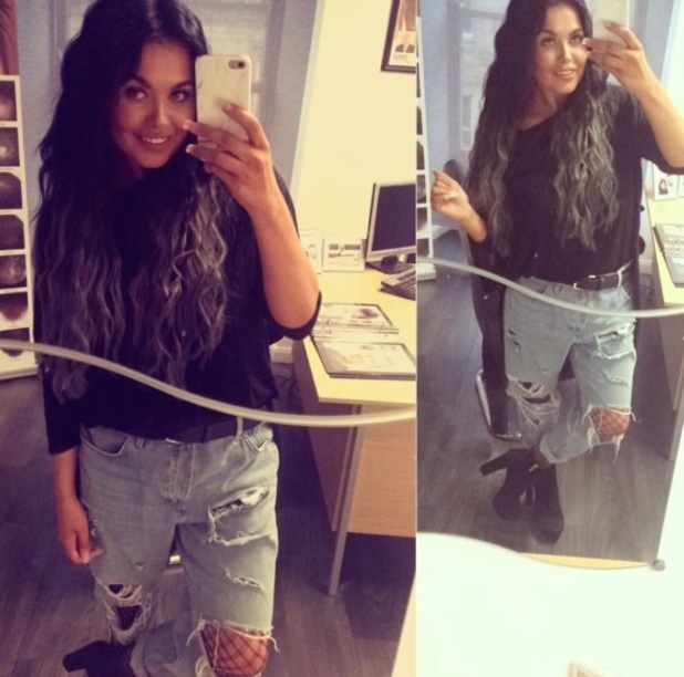 Gogglebox's Scarlett Moffatt takes to Instagram to show off her new mermaid hair, 4th July 2016