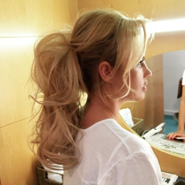 Katie Price ponytail by Mikey Kardashian, 5 July 2016