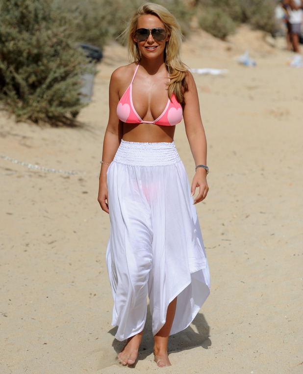 TOWIE star Kate Wright pictured filming the new series of The Only Way Is Essex in Palma, Majorca, 4th July 2016