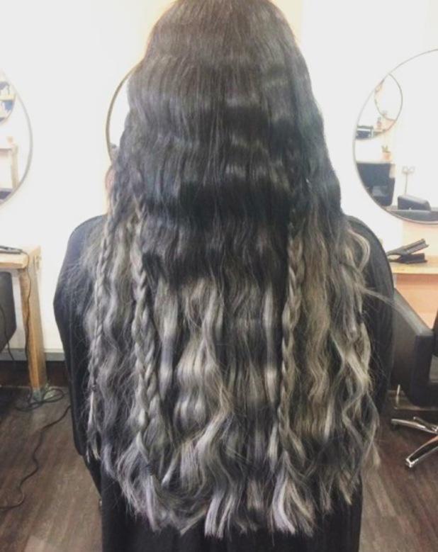 Gogglebox star Scarlett Moffatt shows off her new mermaid-inspired hair, Instagram, 4th July 2016