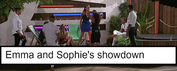 Love Island episode 35: Sophie and Emma row