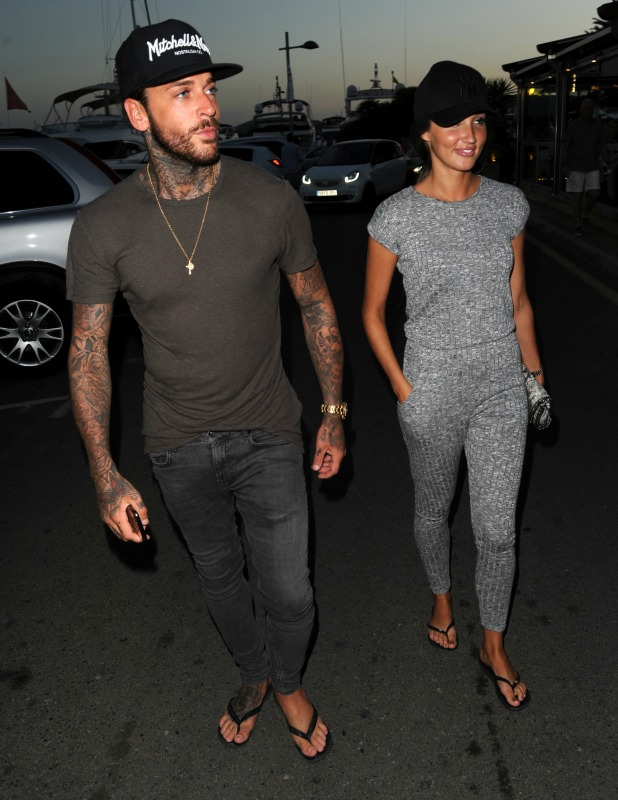 TOWIE: Megan McKenna and Pete Wicks filming in Majorca, 6 July 2016