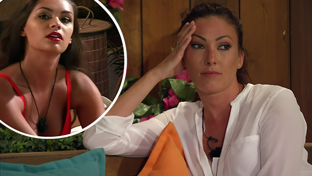 Sophie Gradon on Love Island Inset: Emma-Jane Woodham on Love Island