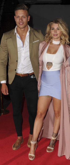 Love Island's Olivia Buckland and Alex attend the Love Island Wrap party, London, 15th July 2016