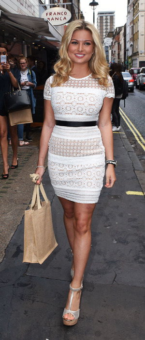 Love Island star Zara Holland attends The Real Greek book launch in Soho, London, 12th July 2016