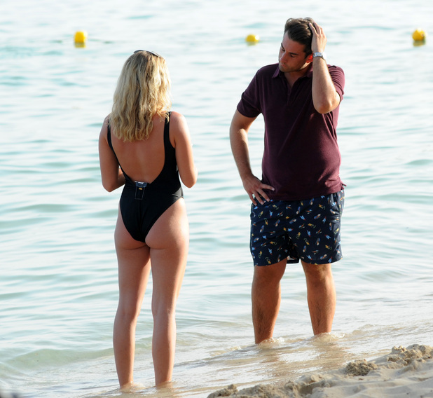 Lydia Bright and James Arg Argent reunite after split, Palma, Mallorca 4 July
