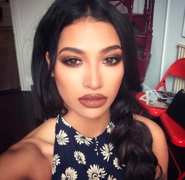 Celebrity MUA Adam Burrell gives The Saturdays singer Vanessa White a nude make-up makeover, 12th July 2016