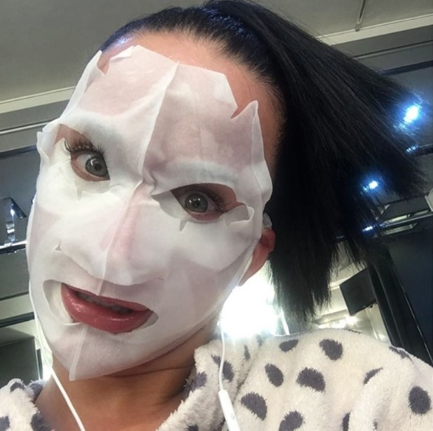 Katy Perry, scary cloth face mask selfie, 12 July 2016