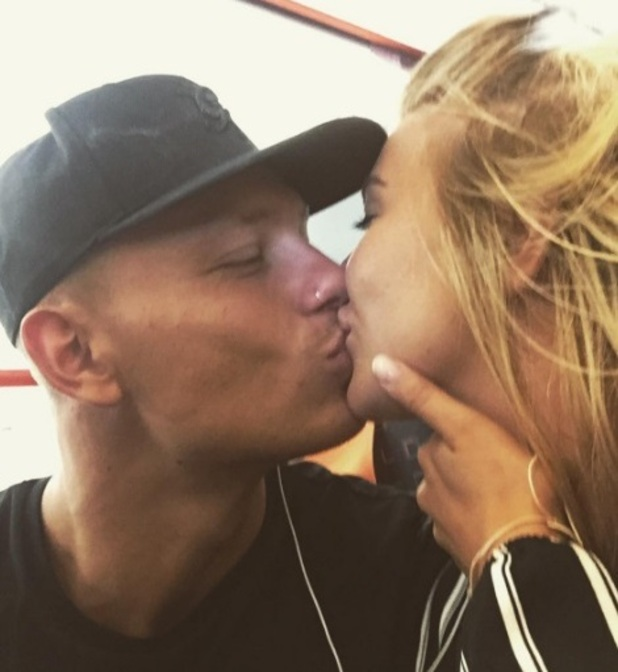 Love Island: Olivia Buckland and Alex Bowen kiss at the airport after landing back in the UK 13 July 2016