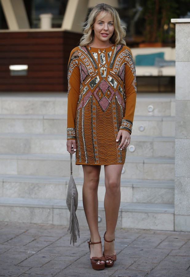 TOWIE's Lydia Bright wears beaded dress on holiday in Majorca, Palma, 9th July 2016