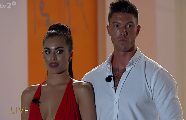 Islanders await the public vote on 'Love Island: Final'. Broadcast on ITV2HD Katie Salmon and Adam Maxted