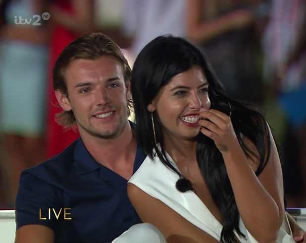 Cara De La Hoyde and Nathan Massey talk to Caroline Flack on 'Love Island: Final'. Broadcast on ITV2HD