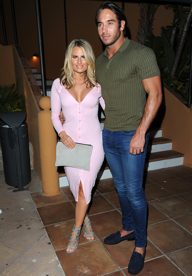 TOWIE stars go out for the first night in Palma Danielle Armstrong and James 'Lockie' Lock