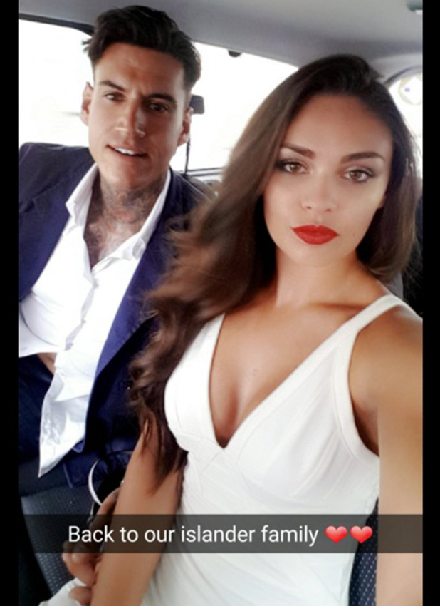 Love Island's Emma and Terry head to wrap party 14 July 2016