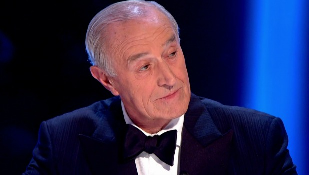 Len Goodman as the judges deliver their verdict on the dance off, on the results show of 'Strictly Come Dancing'. Broadcast on BBC1 HD