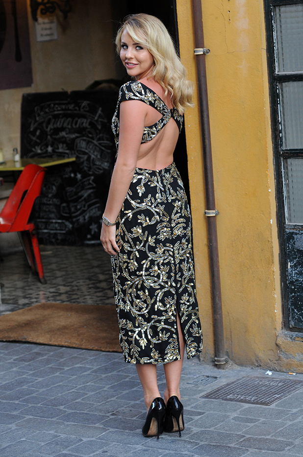 TOWIE cast members arrive at restaurant in Palma for filming Lydia Bright, 2016