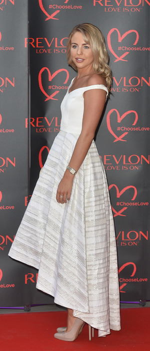 TOWIE star Lydia Bright attends the Revlon launch party at the Victoria and Albert Museum in London, 21at July 2016