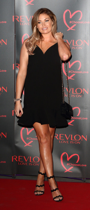 TOWIE star Jessica Wright attends the Revlon launch party at the Victoria and Albert Museum in London, 21at July 2016