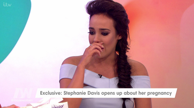 Stephanie Davis breaks down on Loose Women while discussing pregnancy trolls 19 July