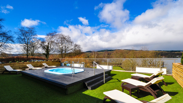 The view from the spa at Beech Hill Hotel & Spa in Lake Windermere, Cumbria