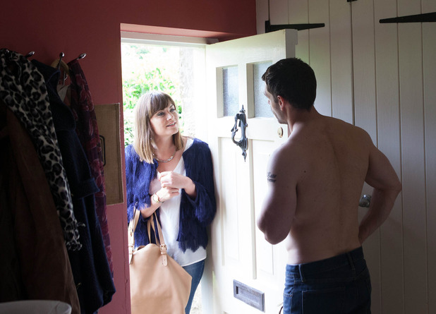 Emmerdale, Chrissie nearly catches Andy and Bernice, Mon 25 Jul