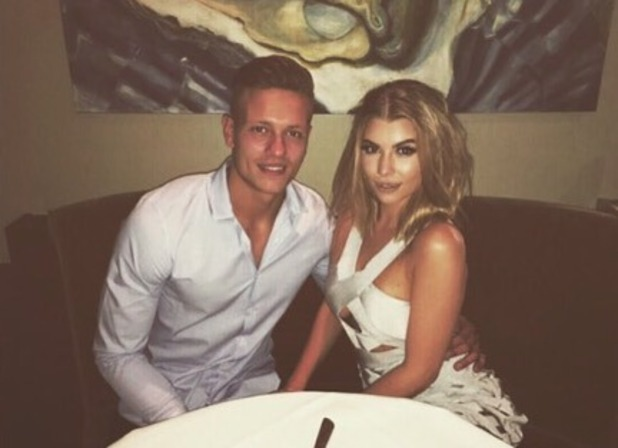 Alex Bowen celebrates his birthday with Olivia Buckland - 24 July 2016