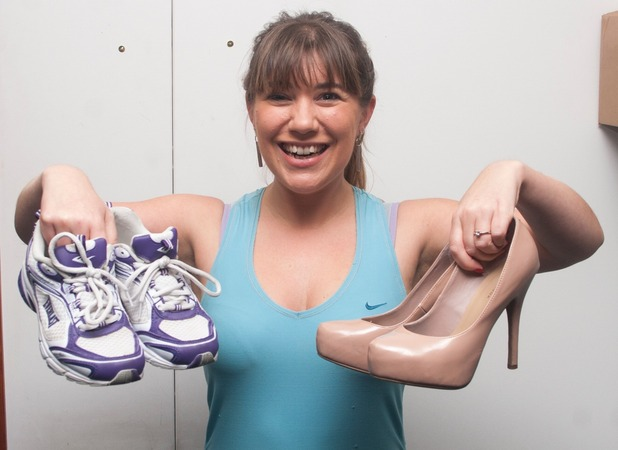 Sarah swapping her heels for trainers