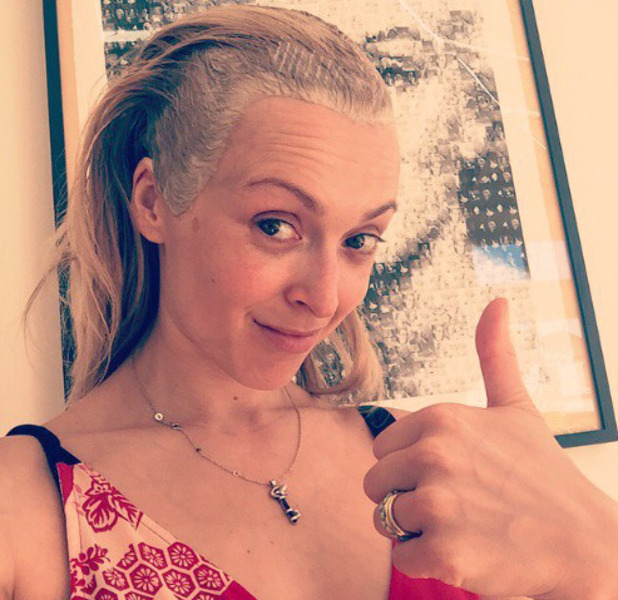 Fearne Cotton shares selfie as she does a box-dye, 19th July 2016