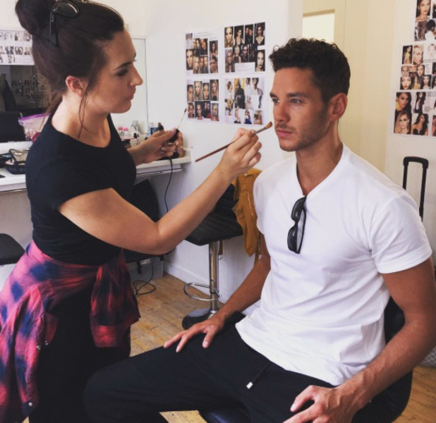 Love Island's Scott Thomas posts behind the scenes picture from BoohooMAN fashion shoot, 21st July 2016