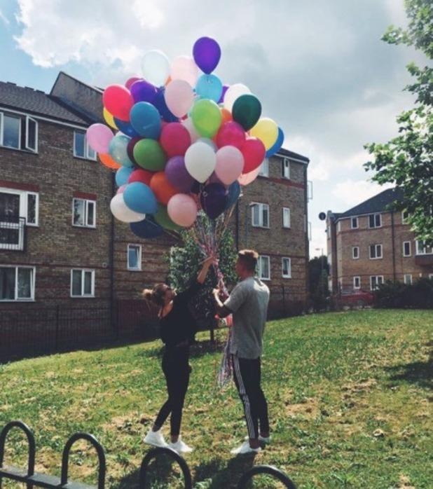 Alex Bowen celebrates his birthday with Olivia Buckland - 24 July 2016
