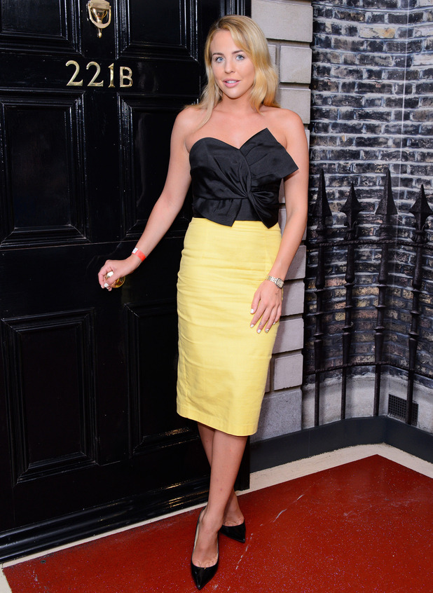 TOWIE star Lydia Bright attends the New Theatrical Sherlock Holmes Whodunnit at Madame Tussauds, London, 20 July 2016