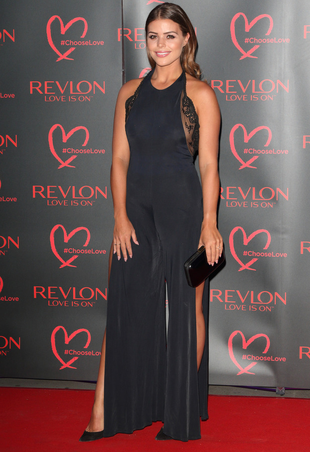 TOWIE star Chloe Lewis attends the Revlon launch party at the Victoria and Albert Museum in London, 21at July 2016