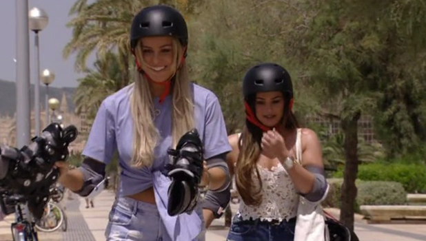 TOWIE Series 18 Episode 1 Chloe and Courtney take Pete rollerblading