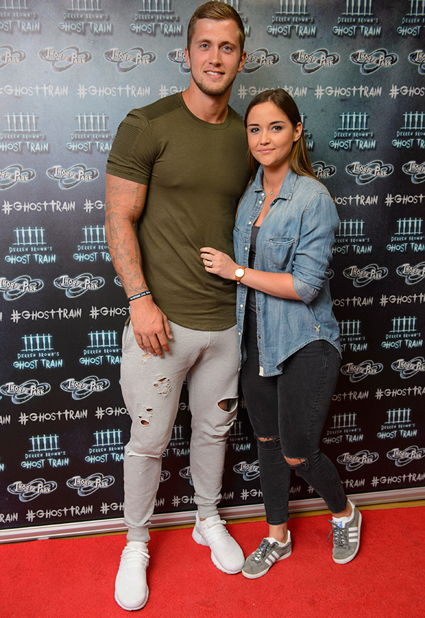 Jacqueline Jossa and Daniel Osborne at Thorpe Park's latest ride, Derren Brown's Ghost Train Launch 21 July 2016