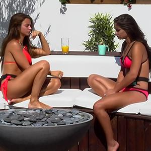 Emma-Jane Woodhams and Kady McDermott, contestants on ITV reality series 'Love Island'. Broadcast on ITV2 HD